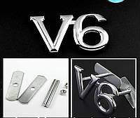 Эмблема решетки радиатора V6