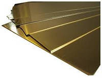 Латунный лист Л63, ЛС59 (мягкий, птв, тв) 1.5х600х1500мм ГОСТ цена купить с доставкой в Украине.