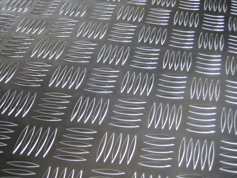 Лист алюминиевый рифленый Квинтет 2х1250х2500 0 ГОСТ алюминий ГОСТ купить с доставкой по Украине делаем порезку.