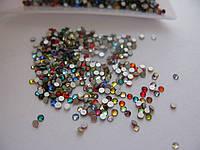 Стразы для ногтей ss4 mixed colors, стекло, 1440шт. (1,5-1,6мм)