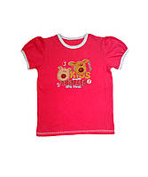 Детская футболка Украина, Трикотаж, 74, малиновый