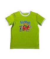 Детская футболка Украина, Трикотаж, 62, зеленый