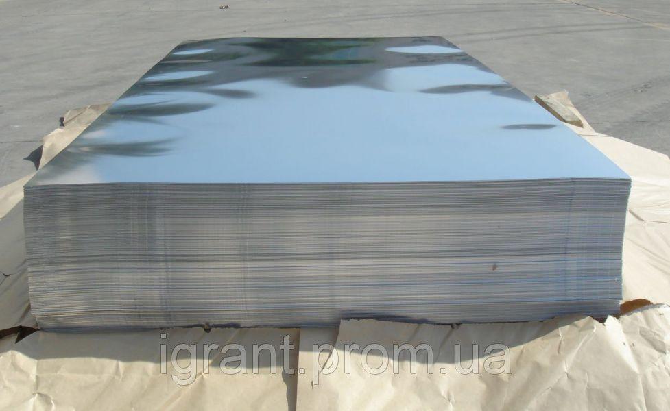 Лист нержавеющий AISI 321  1,2х1000х2000 пищевой Зеркальный, шлифованный ГОСТ цена купить