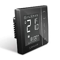 """""""SALUS"""" VS10BRF Беспроводной, цифровой регулятор температуры 4 в 1, черный, скрытого монтажа, 230V"""