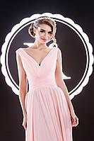 Волшебно-нежное вечернее платье с гофрированным корсетом и небольшим шлейфом