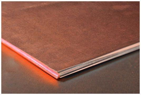 Мідь лист 16х600х1500 М1м мідний лист прокат мідний, М1 М2 ГОСТ ціна купити