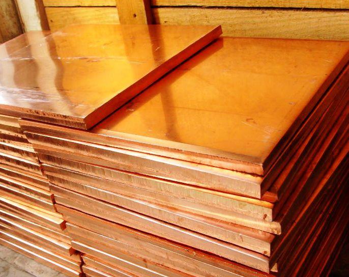 Медь лист, плита1.2х600х1500 М1 медный прокат, вес, кг, розмер листа  М1 М2 ГОСТ цена купить