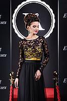 Ошеломляющее вечернее платье интересного модного кроя