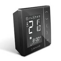"""""""SALUS"""" VS20BRF Беспроводной, цифровой регулятор температуры 4 в 1, черный, питание от батареек 4xAAA"""