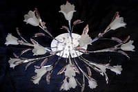 Люстра галогенная с led подсветкой и пультом ДУ 3226/16 CR