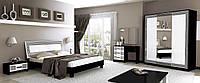 Спальня Віола Глянець білий - Чорний мат, фото 1