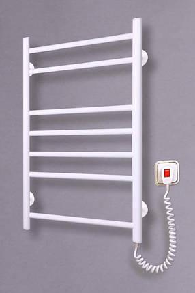 Электрический полотенцесушитель  Лесенка 7 белая, фото 2
