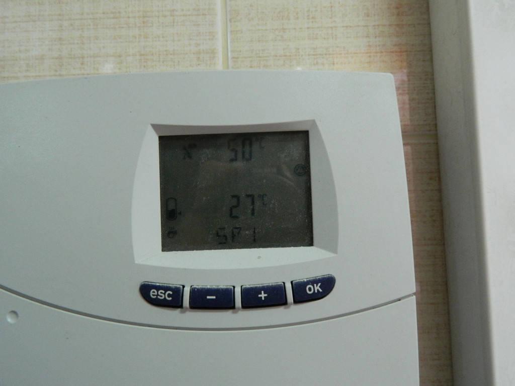 Solar Maximal в работе: - верхняя температура в коллекторном поле - нижняя - в бойлере ГВС