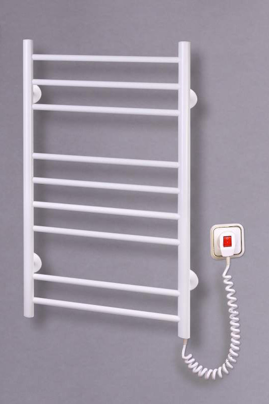 Электрический полотенцесушитель Лесенка 9 белая