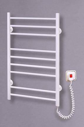 Электрический полотенцесушитель Лесенка 9 белая, фото 2