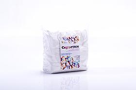 Серветки спанлейс 5х5см гладка структура, упаковка 100шт