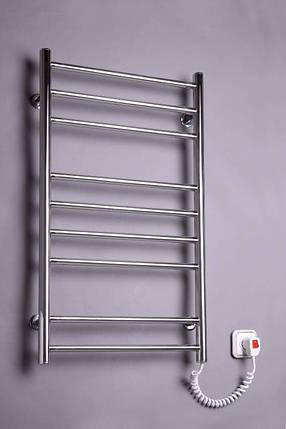 Электрический полотенцесушитель  Лесенка 9 нержавейка, фото 2