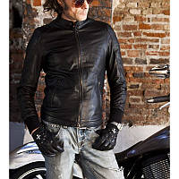 Мужская стильная кожаная куртка Италия размер S