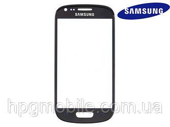 Защитное стекло корпуса для Samsung Galaxy S3 mini i8190, черный, оригинал