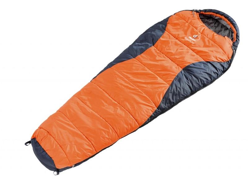 Спальный мешок Deuter Dream Lite 400 sun orange-midnight Zip left (49328 8830 1)
