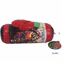 Набор боксерский Трансформеры груша с перчатками в сетке 33см