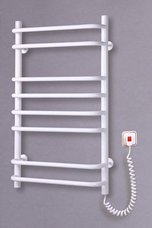 Электрический полотенцесушитель  Стандарт 8 белый