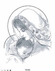 "Бисерная заготовка ""Мария с младенцем""  ТО-003"
