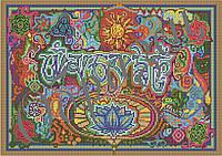 """Схема для вышивания бисером Янтра """"Ом Мани Падмэ Хум"""" КМР 3109"""