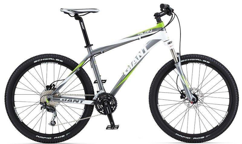"""Горный велосипед Giant Talon 3 серый/белый/зелёный XL/21, 26"""" (GT)"""