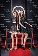 Шикарное вечерние платье в стиле беби долл с утончённым корсетом на спинке