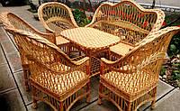 Комплект плетеной мебель из лозы на 6 персон