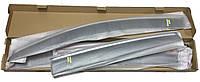 Накладные дефлекторы окон с окантовкой Фольцваген Пассат B6 2006-2011 Седан