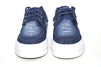 Мокасины джинсовые подростковые. Летние слипоны на шнурках.