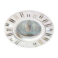 Точечный встраиваемый светильник Feron GS-M393 MR16 серебро
