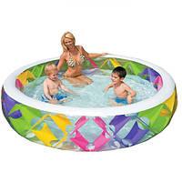 Надувной бассейн для детей Intex 56494 с надувным дном, прочный ПВХ, размеры 2,29 м x 0,56 м