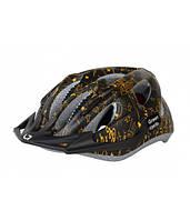 Шлем детский Green Cycle FAST FIVE размер 50-56см черно-золотистый HEL-19-89
