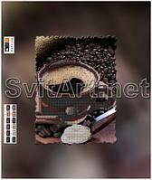 Схемы для вышивки бисером на холсте Чашка кофе (А4)