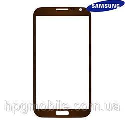 Защитное стекло корпуса для Samsung N7100 Note II, оригинал (коричневый)