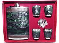 Набор для мужчин фляга стопки NF4-22, набор фляга стопки в коробке, подарочный набор для мужчины