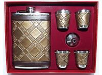 Подарочный набор с флягой NF4-24, фляга с рюмками, набор фляга стопки в коробке, фляга для алкоголя