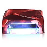Сенсорная УФ Led лампа для наращивания ногтей и гель-лака гибрид 36W красная, фото 1
