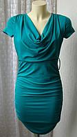 Платье зеленое вискоза стрейч BodyFlirt р.40 6702а