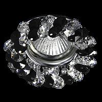 Светильник Точка Света  CR 100 CL/BL (хром, прозрачный+чёрный ,50Вт)