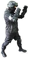 Тактический черный костюм для спецназа