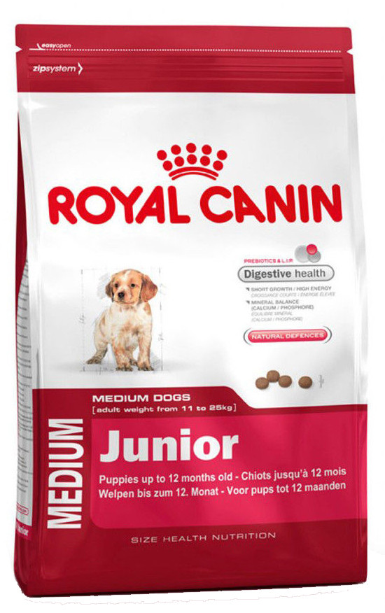 Корм для щенков и юниоров средних пород Royal Canin Medium Junior