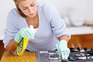 как почистить плиту