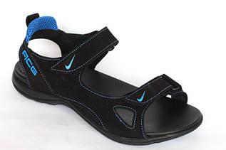 Подростковые сандалии  Nike C4 черные с синим