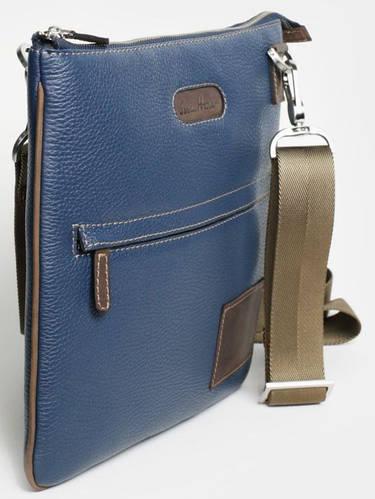 Миниатюрная сумка на плечо, кожаная ISSA HARA В9 (13-32) blue
