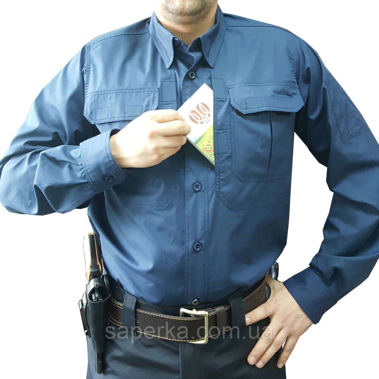Рубашка милитари мужская Police