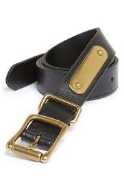 Черный ремень Polo Ralph Lauren